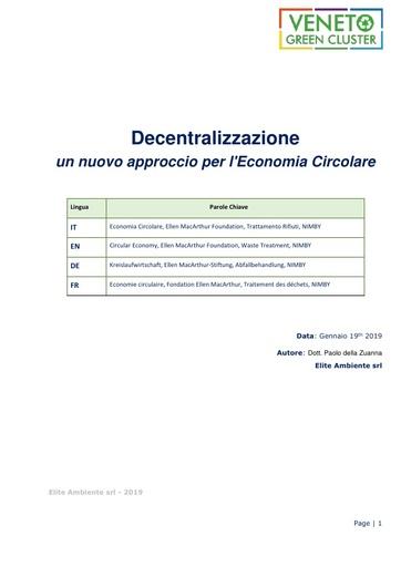 Decentralizzazione: un nuovo approcio per l'Economia Circolare