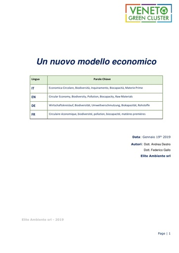 Un nuovo modello economico: da Lineare a Circolare